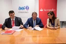 Firma convenio AEF / Banco Santander